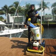 Under water boat maintenance Miami